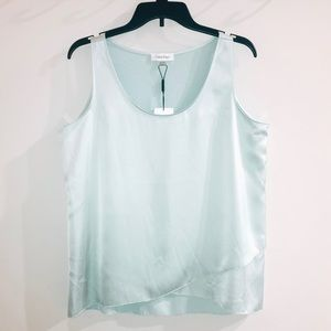 Calvin Klein Sleeveless Asymmetrical Hem Top